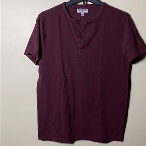 Express men's stretch button down tee